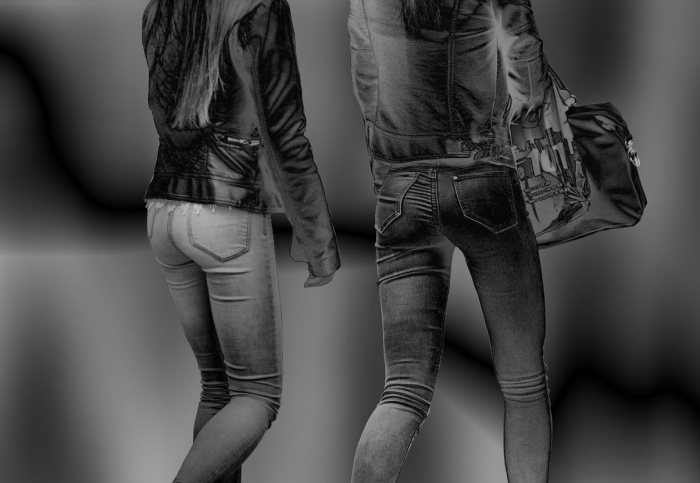 dice jeans hintern